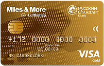 Miles & More Visa Gold Credit Card - кредитная карта от компании РУССКИЙ СТАНДАРТ