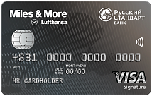 Miles & More Visa Signature Credit Card - кредитная карта от компании РУССКИЙ СТАНДАРТ