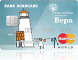 "MasterCard World PayPass ""Вера"" Маяк - кредитная карта от компании АВАНГАРД"