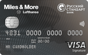 Miles & More Visa Signature Debit Card - кредитная карта от компании РУССКИЙ СТАНДАРТ