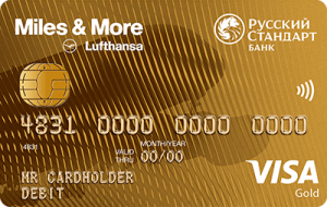Дeбетовая Miles & More Visa Gold Debit Card - кредитная карта от компании РУССКИЙ СТАНДАРТ